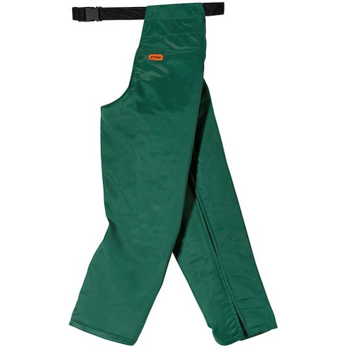 Seatless trousers for chainsaw use