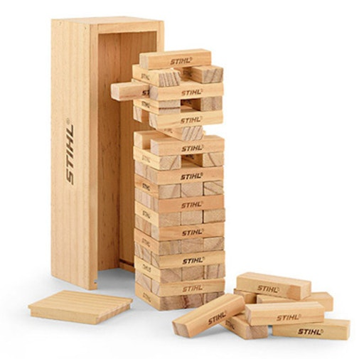 Wooden stacking tower game