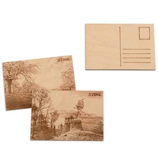 Дървена картичка, 2 бр.