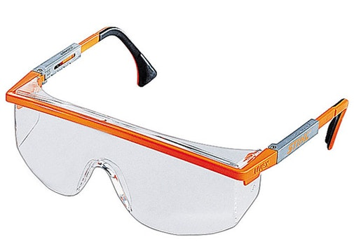 Astrospec Glasses, clear and scratch-resistant