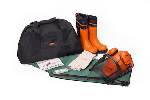 PPE kits with rubber chainsaw boots