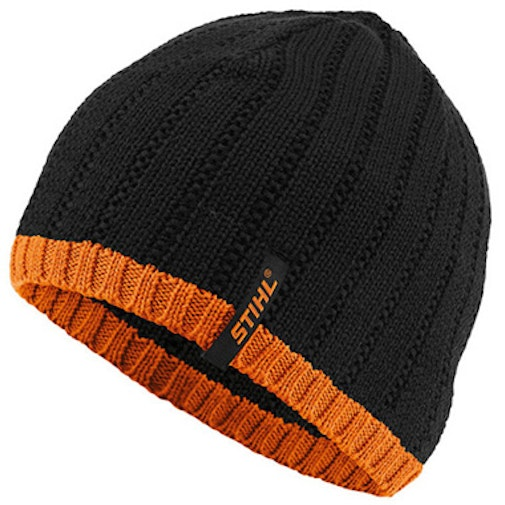 Beanie, black and orange