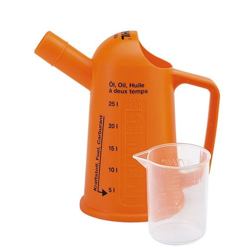 Measuring jug for mixing fuel