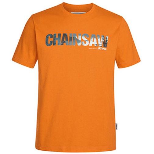 T-Shirt Motorsäge, Farbe Orange