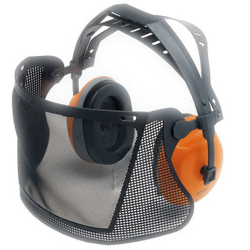 Short face/ear protection with nylon mesh