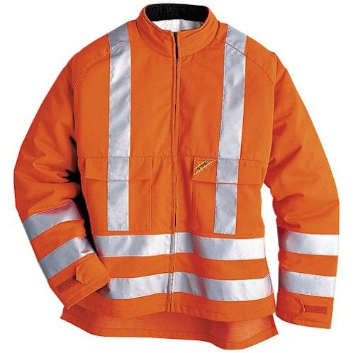 Яркооранжево яке със защита от срязване