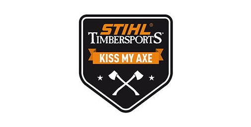 """Grote sticker """"KISS MY AXE"""""""