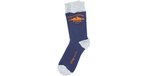 "Socken ""EXPLORING"", blau"