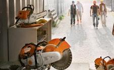 Gesteinschneider, Trennschleifer und Erdbohrgeräte